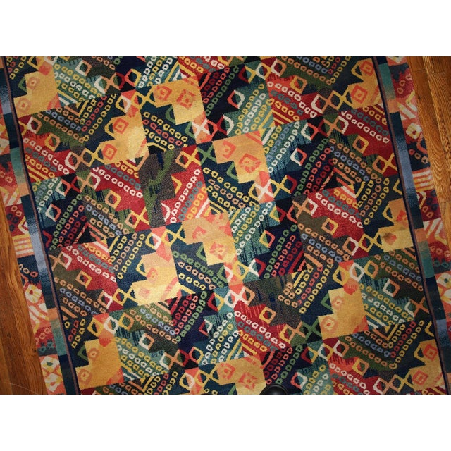 1970s Hand Made Vintage Art Deco Chinese Rug - 4' X 6' - Image 6 of 7