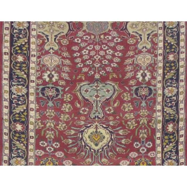 Islamic Vintage Persian Tabriz Rug - 3'3''x16'6'' For Sale - Image 3 of 3