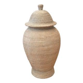 Boho Chic Bungalow 5 Java Temple Jar Vase For Sale