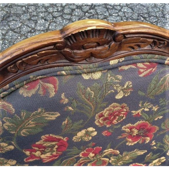 French 20th Century French Provincial Louis XV Style Armchairs - a Pair For Sale - Image 3 of 13