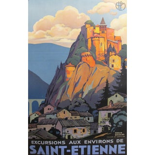 Rare French 1930s Art Deco Travel Poster, Saint Etienne, Roger Broders For Sale
