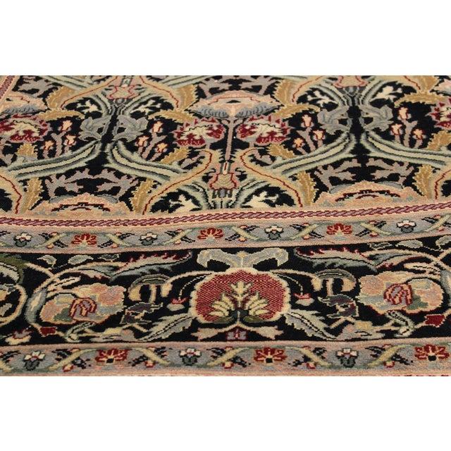 "William Morris Pak-Persian Sandi Black Red Wool Rug - 8'11"" x 10'2"" For Sale - Image 4 of 8"