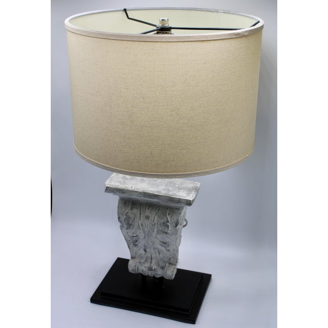 Mid 20th Century Architectural Restoration Hardware Style Corbel Lamp For Sale - Image 5 of 13