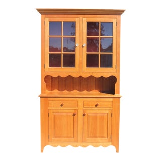 Hand Crafted Solid Cherry Cupboard For Sale