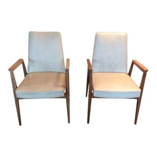 Vintage French Thonet Armchairs - A Pair For Sale