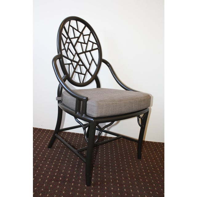 McGuire Cracked Ice Garden Arm Chair - Image 3 of 7