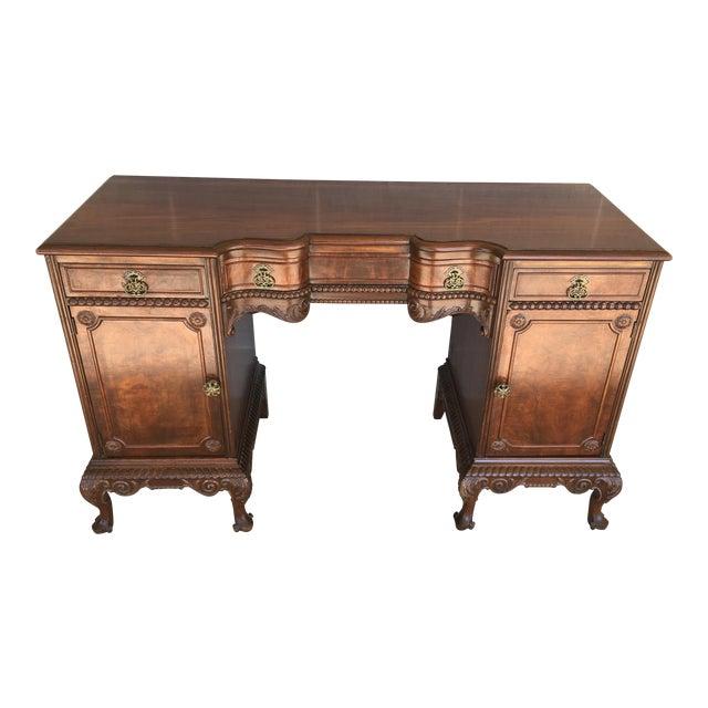 John Stuart Louie XV Style Solid Walnut Vanity For Sale