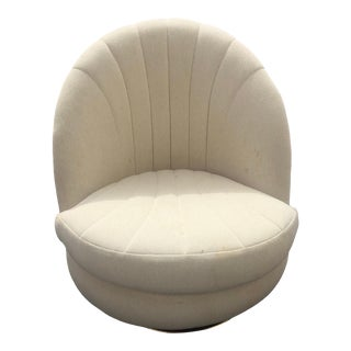 Vintage Mid Century Milo Baughman Style Swivel Club Chair For Sale