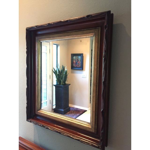 Folk Art Rustic 1870's Faux Bois Folk Art Antique Mirror For Sale - Image 3 of 9