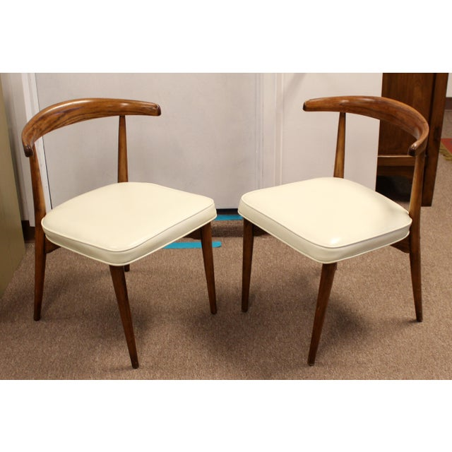 Wood Mid Century Modern Lawrence Peabody Craft Assoc.Dining Table & 6 Side Chairs - Set of 7 For Sale - Image 7 of 13