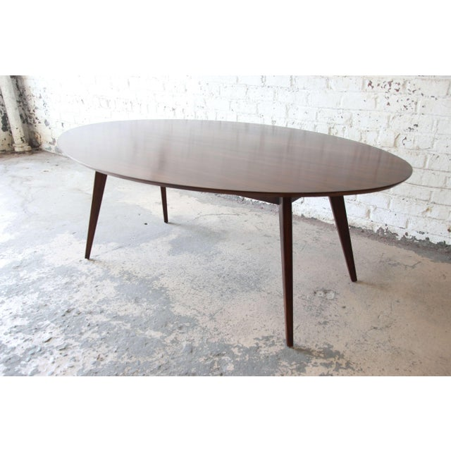 Knoll Knoll Walnut Eliptical Dining or Conference Table For Sale - Image 4 of 10