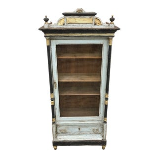 19th C. French Antique Bookcase Display Cabinet For Sale