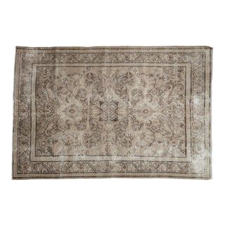 """1950s Distressed Mahal Carpet 5'4"""" X 7'9"""" For Sale"""
