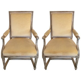 Antique Louis XIV French Armchairs - A Pair