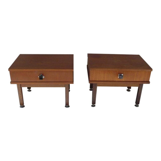 1960s Danish Modern Rosewood Nightstands - a Pair For Sale