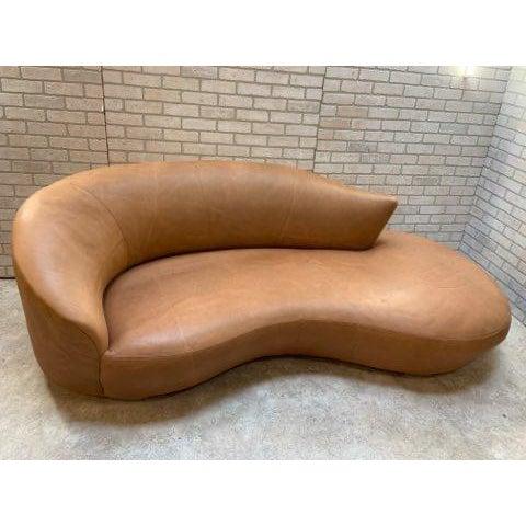 Vintage Mid Century Modern Rare Vladimir Kagan Cloud Sofa and Nautilus Swivel Chair Newly Upholstered in Stunning Natural...