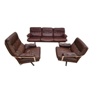 1970s Vintage Arne Norell Sofa Set- 3 Pieces For Sale
