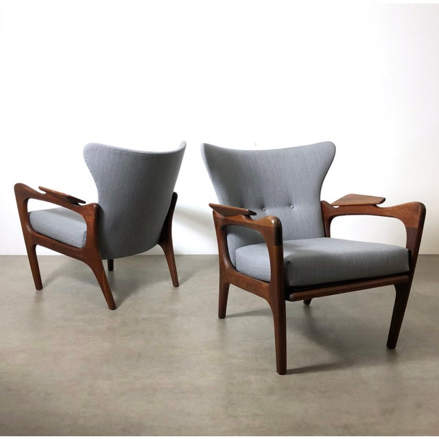 1960s Pair Adrian Pearsall for Craft Associates Wingback Lounge Chairs For Sale - Image 10 of 10