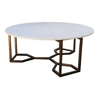 Four Hands Naomi Coffee Table With Marble Top For Sale