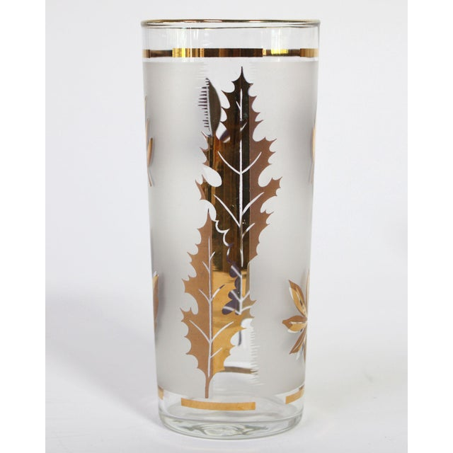 "This ""Golden Foliage"" pattern glassware by the Libbey Glass Company was made in the USA between 1953 - 1978. Stately at..."