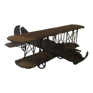 Brutalist Airplane Sculpture