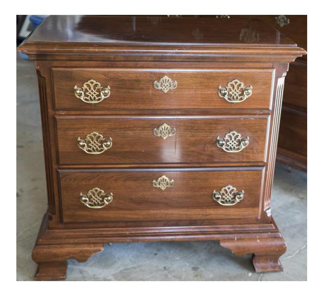 cherry wood nightstand. Vintage Cherry Wood Nightstand L
