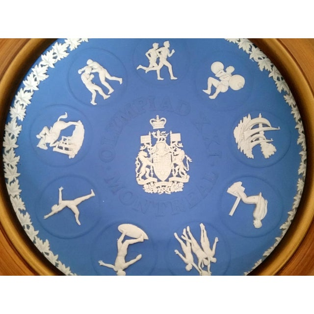 Early American Wedgwood Jasperware 1976 Montreal Olympics Plate For Sale - Image 3 of 6