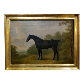 John Boultbee -Thoroughbred Horse in a Landscape-Fabulous Oil Painting C.1806