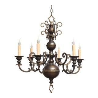 Bronze Georgian Chandelier For Sale