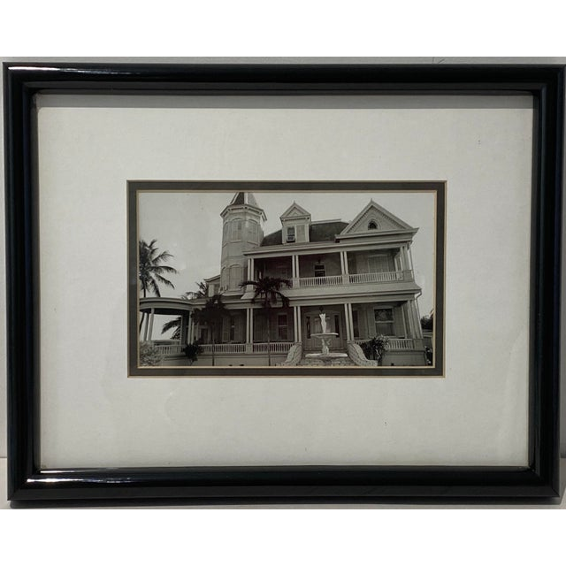 Black Mid-Century Photograph of Key West's Southernmost House in America For Sale - Image 8 of 9
