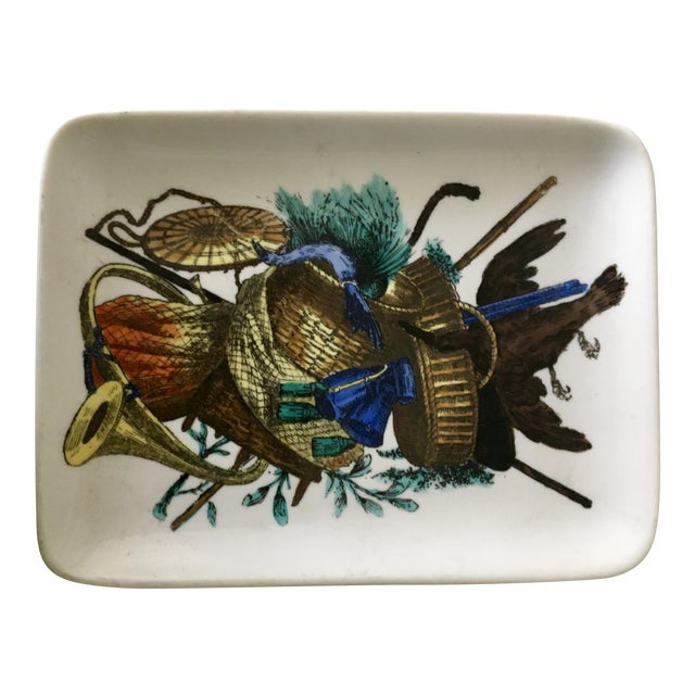 Vintage Fornasetti Decorative Trinket Dish, Tray, Plate, Accessories For Sale