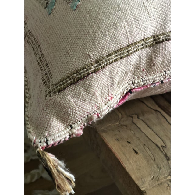 Pale Pink Cactus Silk Pillow For Sale - Image 4 of 6