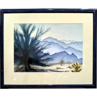 Virginia McCallister-Huffman Desert Landscape Watercolor Painting