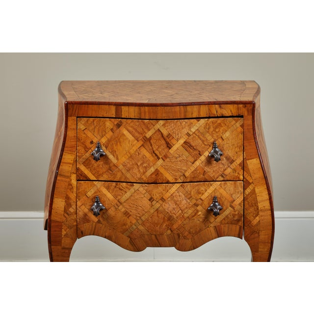 Early 20th C. Italian Marquetry Petite Chest of Drawers For Sale - Image 9 of 10