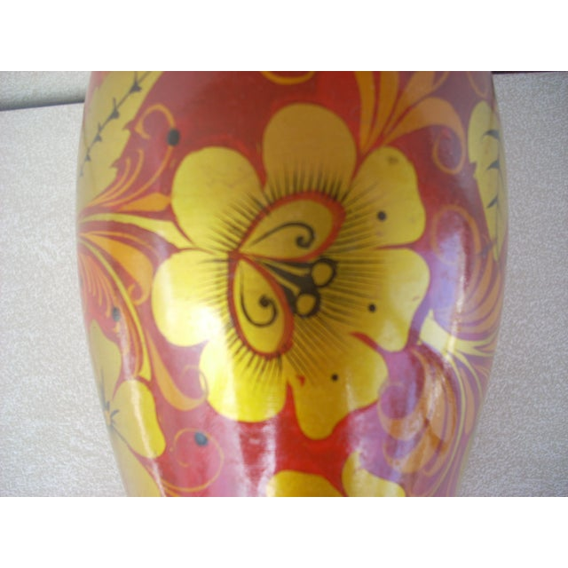 Russian Kholkoma Woodenware Vase - Image 3 of 3