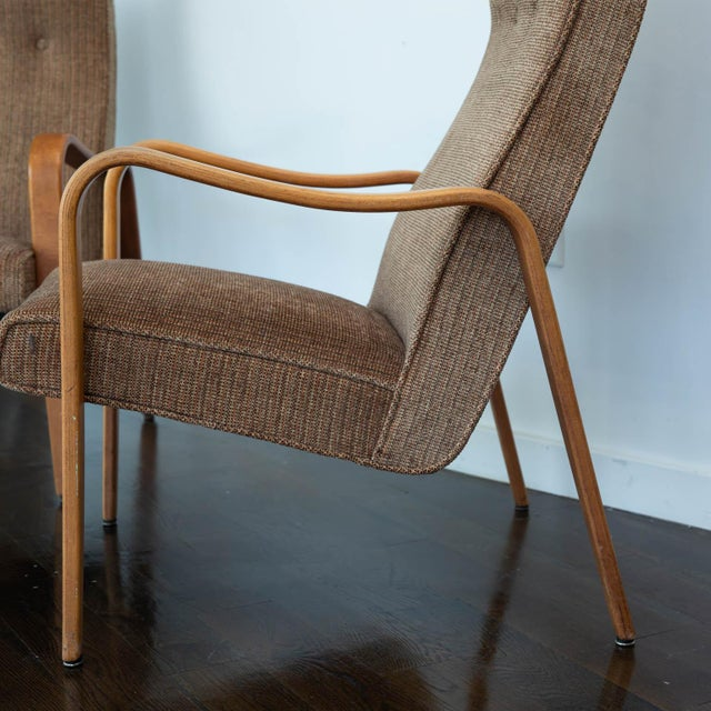 1950s Pair of Thonet Bentwood Armchairs For Sale - Image 5 of 12