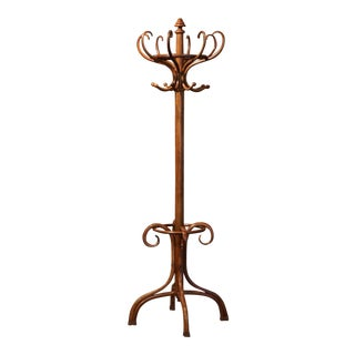 Mid-20th Century French Bentwood Coat Stand or Hat Rack Thonet Style For Sale