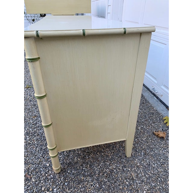 Gold 1970s Faux Bamboo Allegro by Thomasville Dresser For Sale - Image 8 of 11