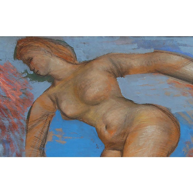 Josef Presser Polish/American 1907-1967 Nude gouache, mixed media 21 3/4 x 26 3/4 in. Signed Frame 27 x 32 in. Provenance...