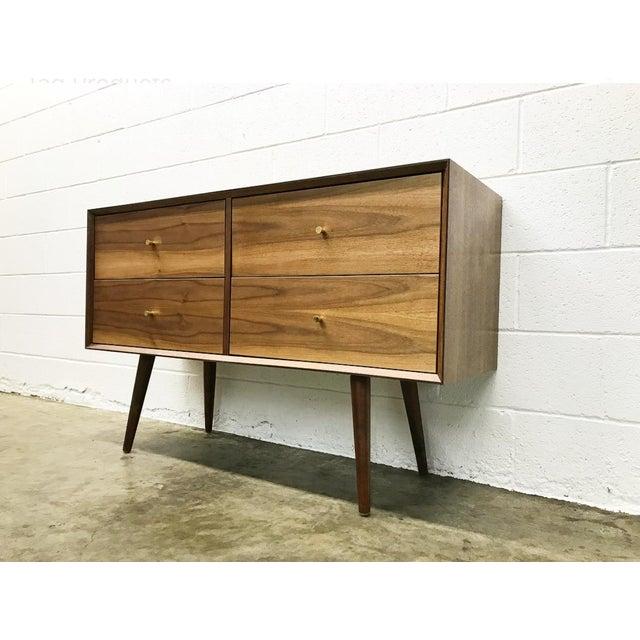 Mid-Century Modern Walnut Dresser For Sale - Image 3 of 4