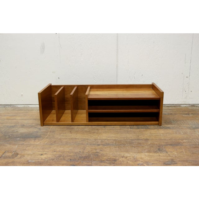 Brown Mid Century Pedersen & Hansen Danish Desk Caddy Letter Tray Organizer 1960s For Sale - Image 8 of 8