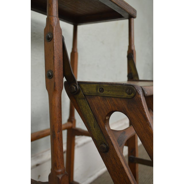 Brown Antique 19th Century Folding Stepping Stool For Sale - Image 8 of 13