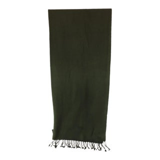 Fashion Hunter Green Wool Unisex Scarf For Sale