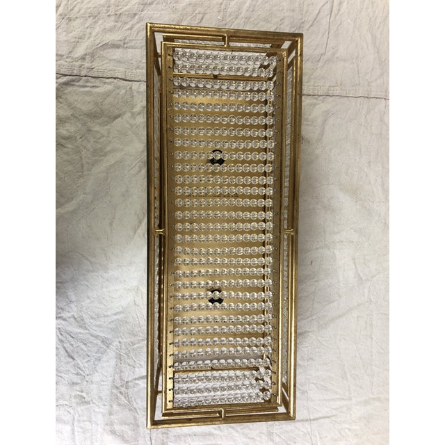 Adelle Wall Sconce by Currey and Company 5000-0001 Crystal-beaded wall sconce with chinois gold leaf finish. Showroom...