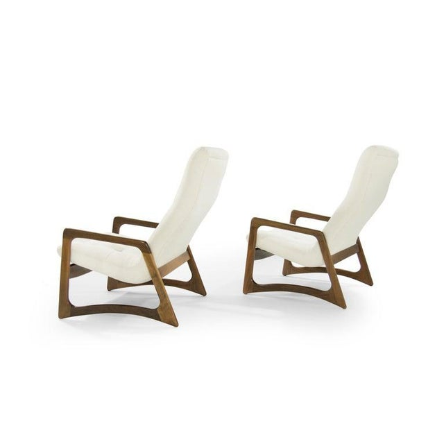Sculptural Walnut Lounge Chairs by Adrian Pearsall for Craft Associates - a Pair For Sale In New York - Image 6 of 13
