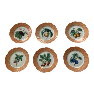 Vintage Mottahedah Fruit Plates - Set of 6 For Sale