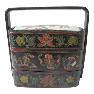 1940s Chinese Lacquered Box For Sale
