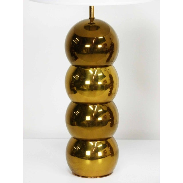 George Kovacs Brass Stacked Ball Lamps - A Pair For Sale - Image 5 of 7