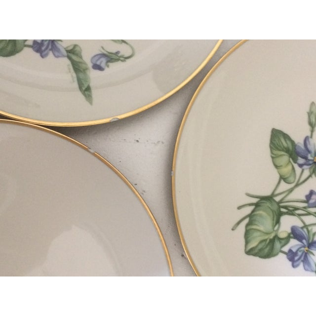 Vintage Franciscan China Olympic with Purple Violet Flowers - Set of 12 - Image 7 of 7