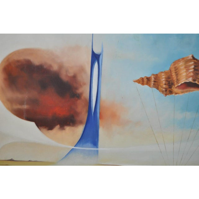 Carlo Wahlbeck Surreal Landscape Painting c.1970 For Sale In San Francisco - Image 6 of 8